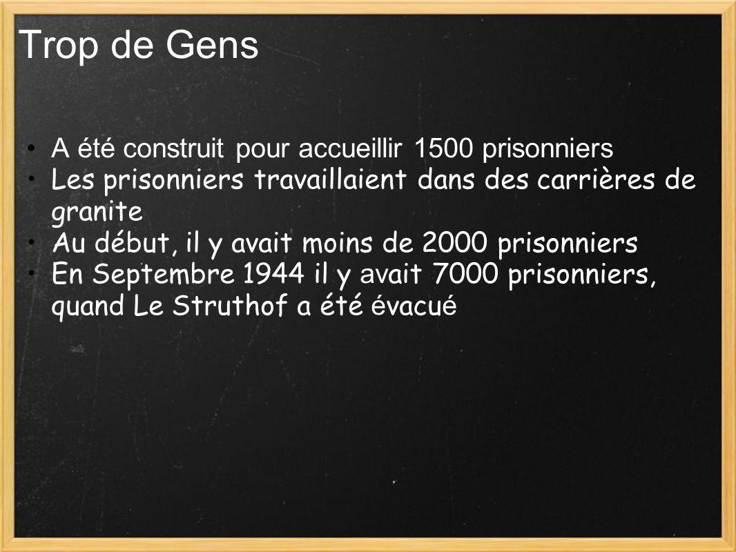 Trop de Gens A été construit pour accueillir 1500 prisonniers Les prisonniers travaillaient dans des carrières de granite Au début, il y avait moins d