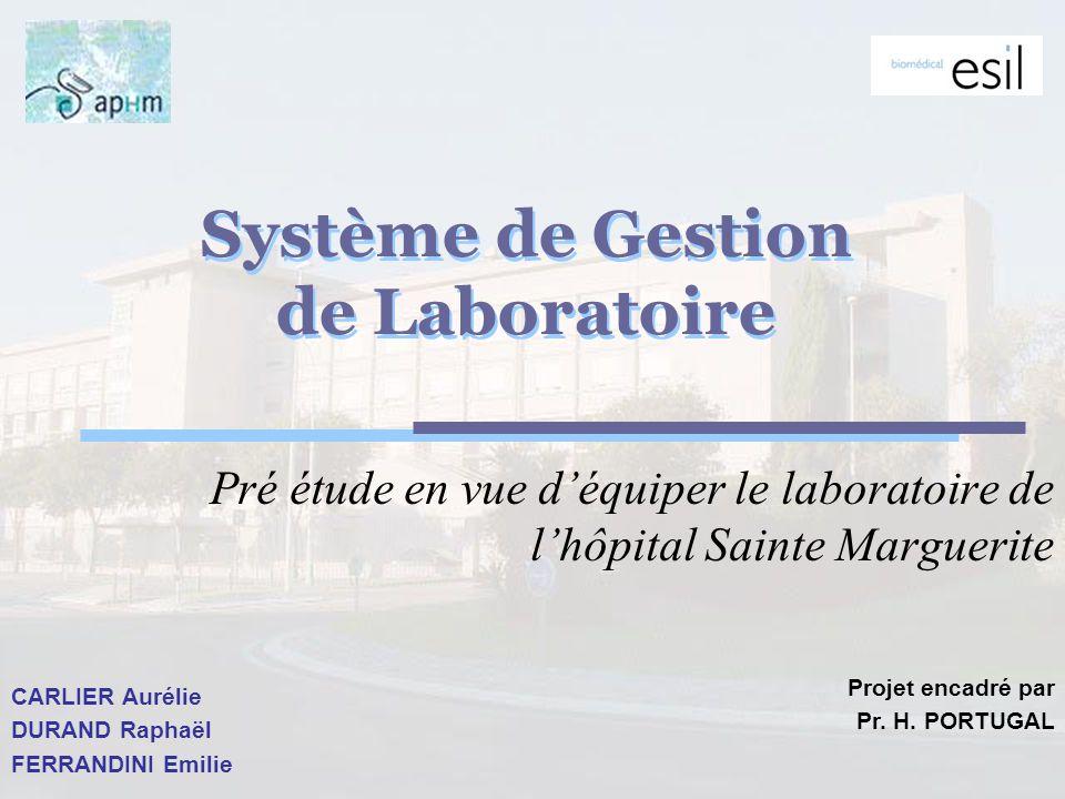 Assistance technique et au paramétrage Définition des options de paramétrage par rapport à lorganisation du laboratoire.