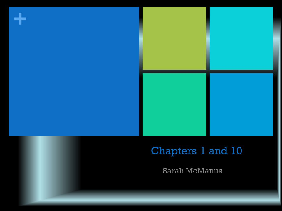 + Chapters 1 and 10 Sarah McManus