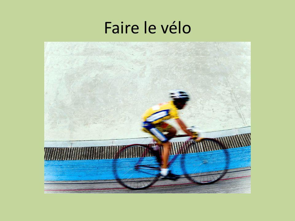 Faire le vélo