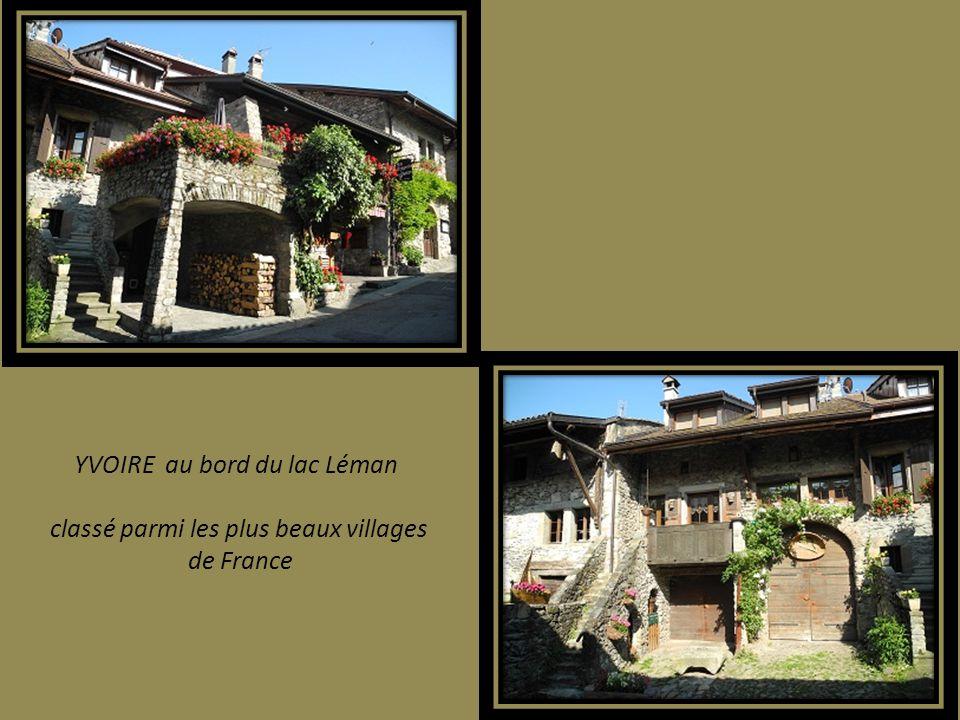 YVOIRE au bord du lac Léman classé parmi les plus beaux villages de France