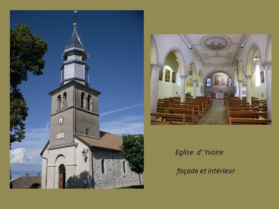 Eglise d Yvoire façade et intérieur