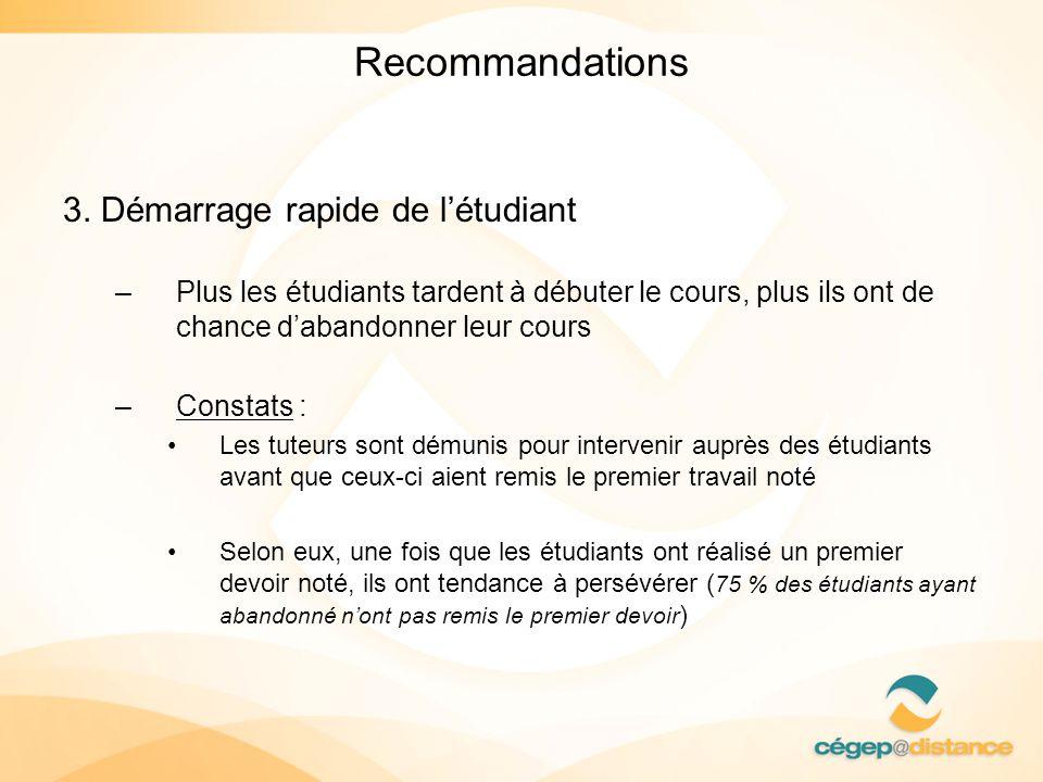 Recommandations 3.