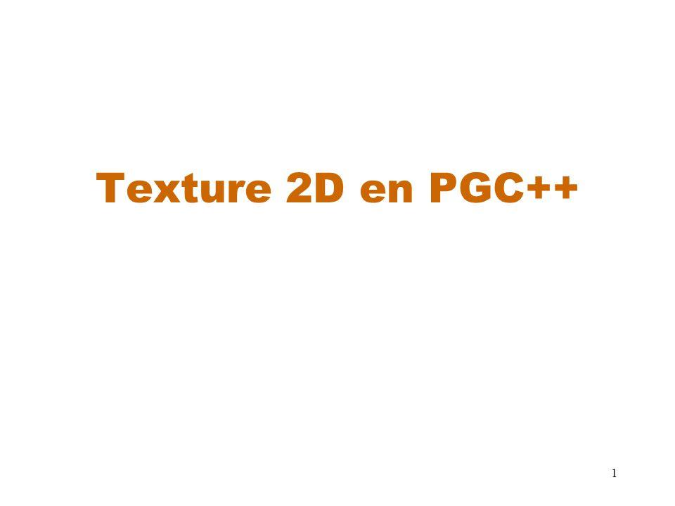 1 Texture 2D en PGC++