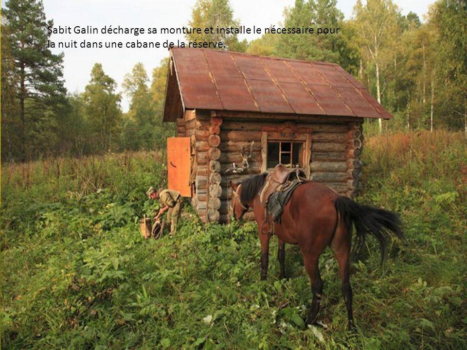 Sabit Galin à cheval déguste les baies sauvages. La connaissance de nature permet aux Bashkirs ruraux de vivre an quasi-autarcie.