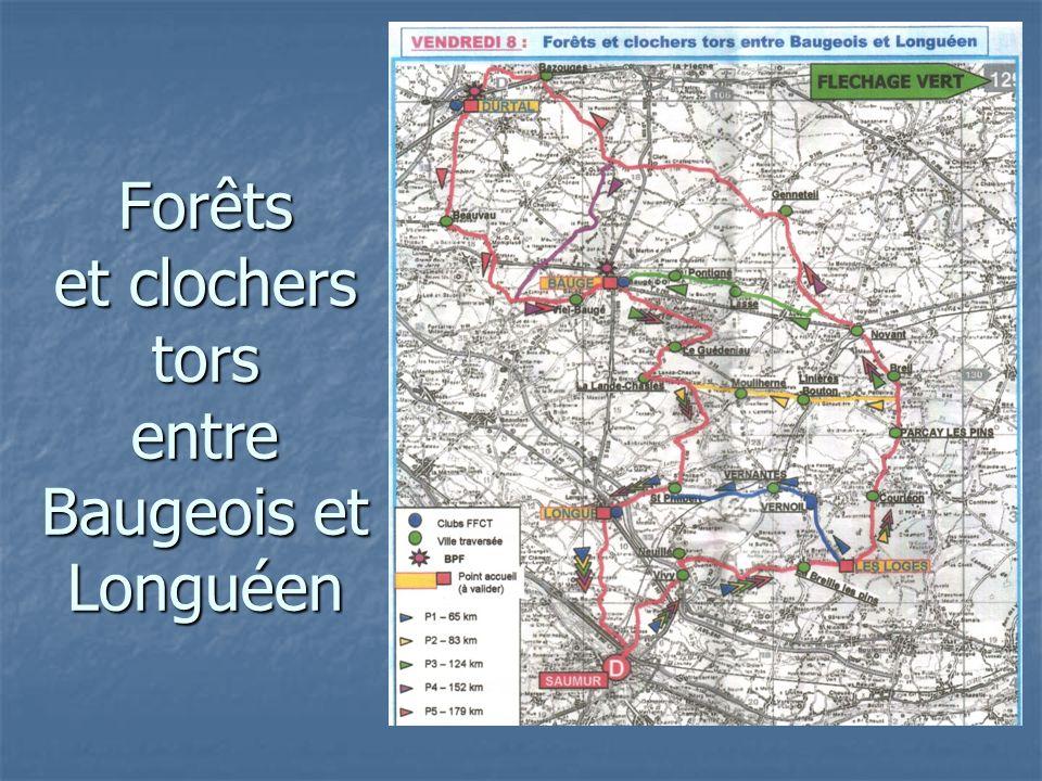 Forêts et clochers tors entre Baugeois et Longuéen