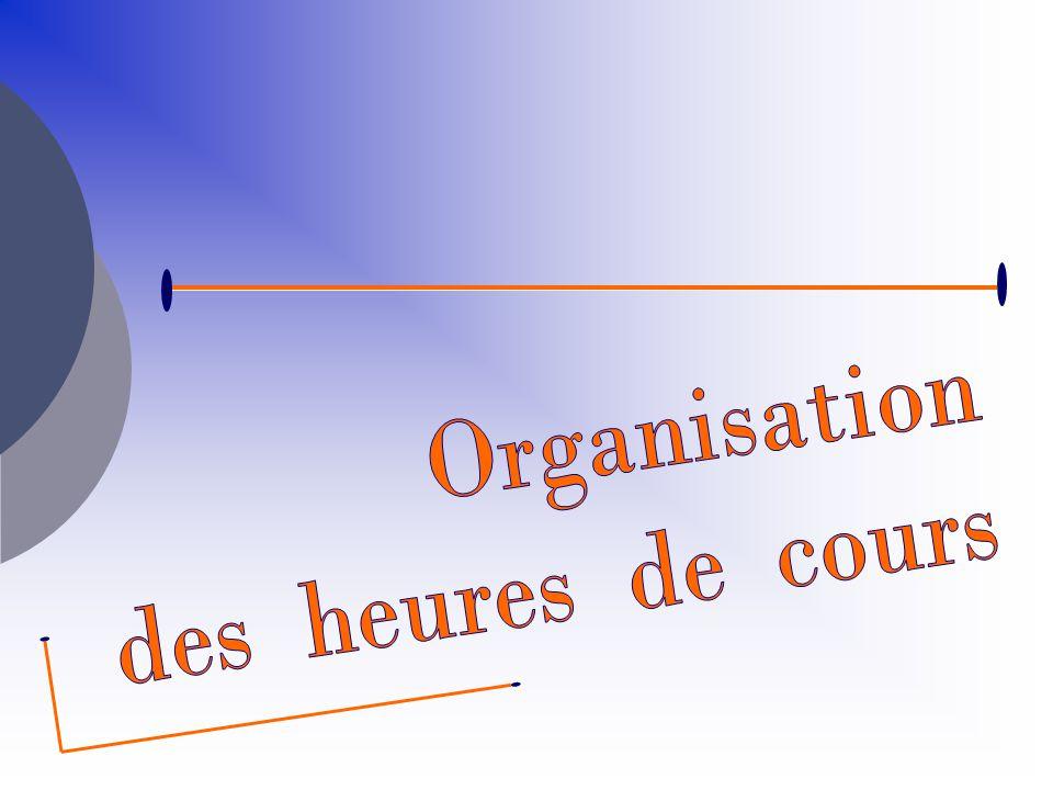 DISCIPLINES1ère année2 ème année Culture générale et expression 2 h Langue vivante étrangère A 3 h Langue vivante étrangère B 3 h Économie/ Droit/Management 6 h Relations professionnelles (F 1) 3 h2 h Information (F 2) 4 h- Aide à la décision (F 3) 3 h2 h Organisation de laction (F 4) 3 h Activités déléguées (F 5) -4 h Situations professionnelles intégrées 4 h6 h Ateliers métier 2 h TOTAL 33 h 3 h 3 h Accès en autonomie aux ressources informatiques