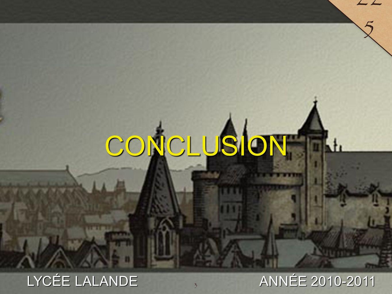 3 LYCÉE LALANDE ANNÉE 2010-2011 22 5 CONCLUSION 3