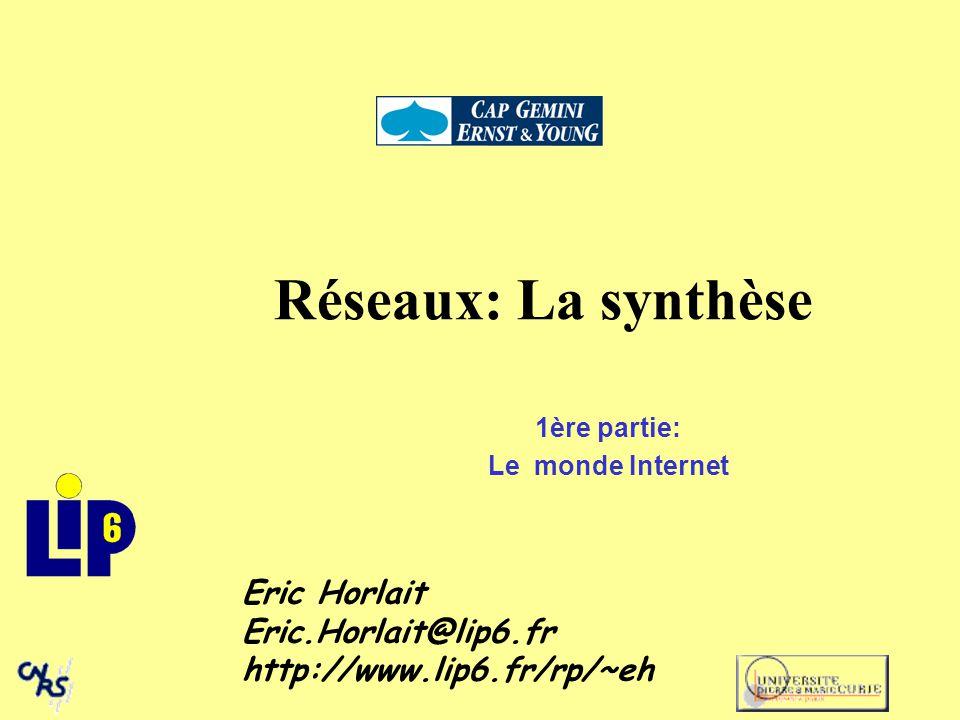 1 $ traceroute sophia.inria.fr traceroute to sophia.inria.fr (138.96.32.20), 30 hops max, 40 byte packets 1 mercure-gw.ibp.fr (132.227.72.1) 1 ms 1 ms 1 ms 2 hera.ibp.fr (132.227.61.135) 2 ms 2 ms 2 ms 3 kerbere.ibp.fr (132.227.60.3) 4 ms 4 ms 4 ms 4 r-jusren.reseau.jussieu.fr (134.157.252.254) 125 ms 10 ms 92 ms 5 r-rerif.reseau.jussieu.fr (192.44.54.1) 4 ms 33 ms 34 ms 6 danton1.rerif.ft.net (193.48.58.121) 31 ms 12 ms 15 ms 7 stlamb3.rerif.ft.net (193.48.53.49) 16 ms 28 ms 32 ms 8 stamand1.renater.ft.net (192.93.43.115) 206 ms 136 ms 47 ms 9 lyon1.renater.ft.net (192.93.43.89) 360 ms 30 ms 33 ms 10 marseille.renater.ft.net (192.93.43.73) 32 ms 49 ms 32 ms 11 marseille1.r3t2.ft.net (192.93.43.49) 36 ms 24 ms 17 ms 12 sophia1.r3t2.ft.net (193.48.50.33) 32 ms 24 ms 28 ms 13 inria-sophia.r3t2.ft.net (193.48.50.50) 26 ms 33 ms 36 ms 14 193.48.50.170 (193.48.50.170) 46 ms 31 ms 27 ms 15 sophia-gw.inria.fr (193.51.208.1) 33 ms 45 ms 29 ms 16 t8-gw.inria.fr (138.96.64.250) 23 ms 39 ms 26 ms 17 sophia.inria.fr (138.96.32.20) 38 ms 33 ms 27 ms Gestion des réseaux: TCP-IP Méthodes simples