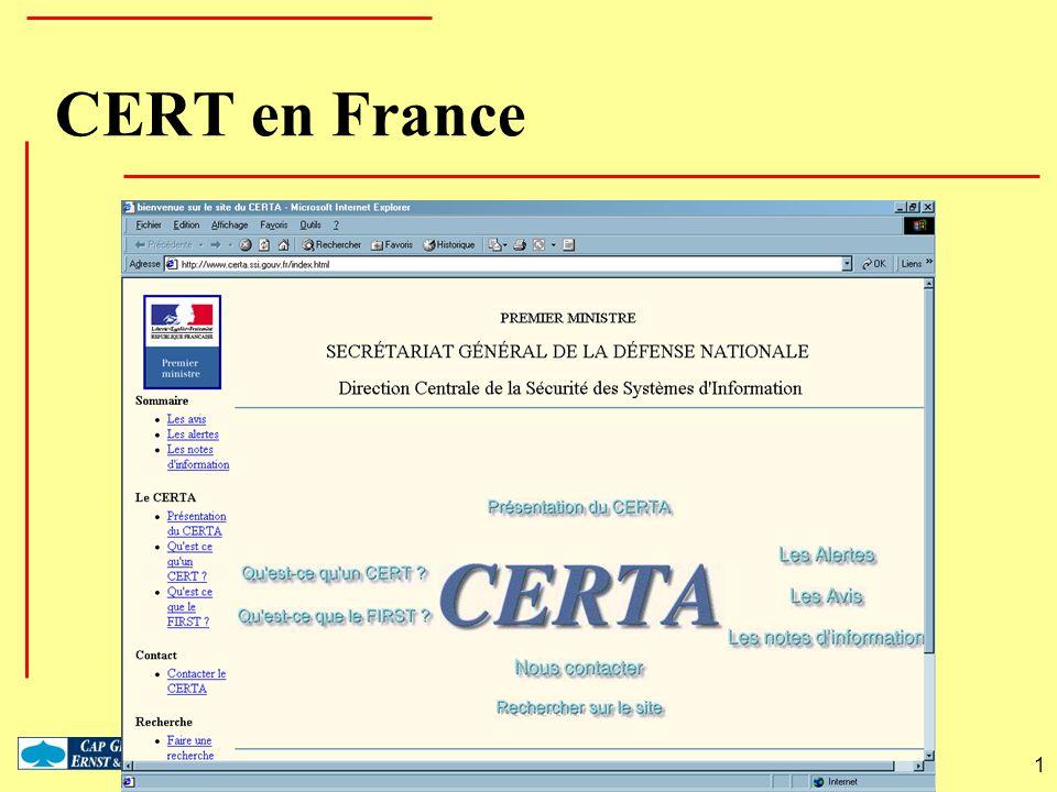 1 CERT en France