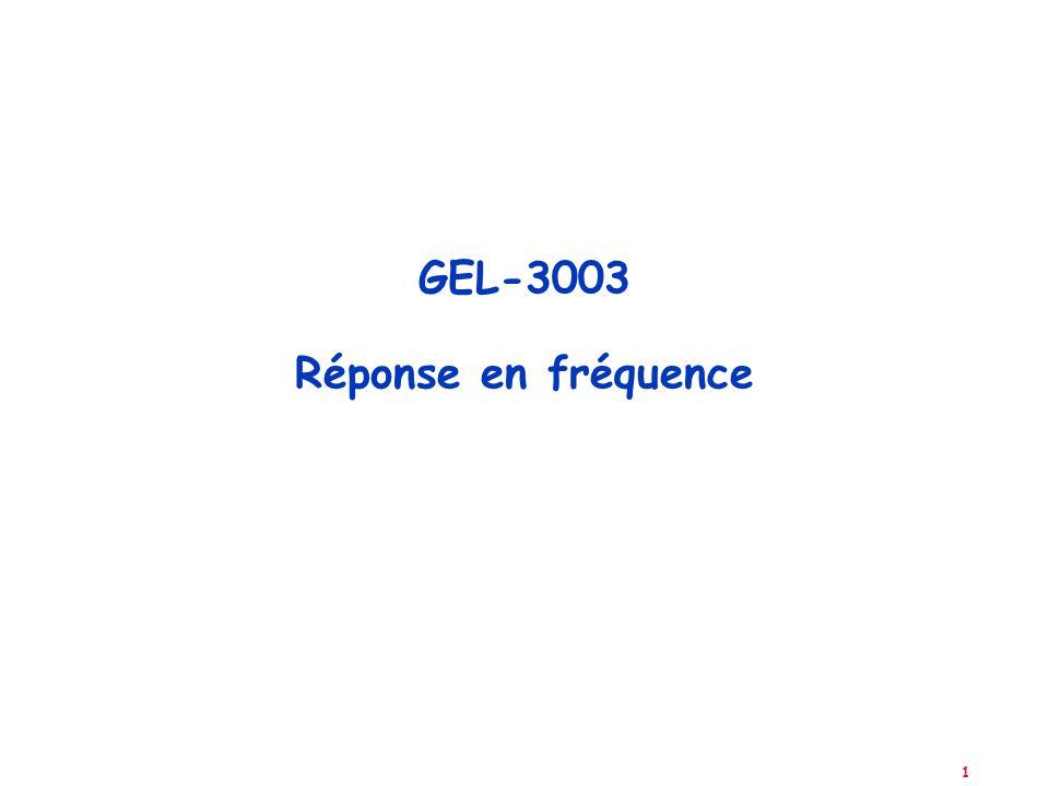 1 GEL-3003 Réponse en fréquence