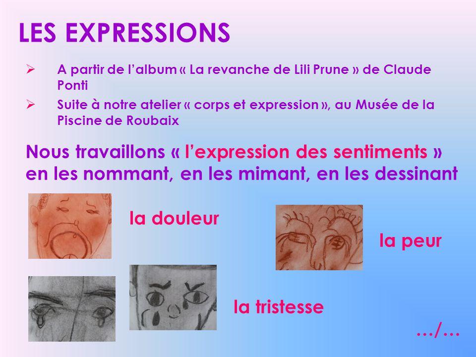 LES EXPRESSIONS A partir de lalbum « La revanche de Lili Prune » de Claude Ponti Suite à notre atelier « corps et expression », au Musée de la Piscine