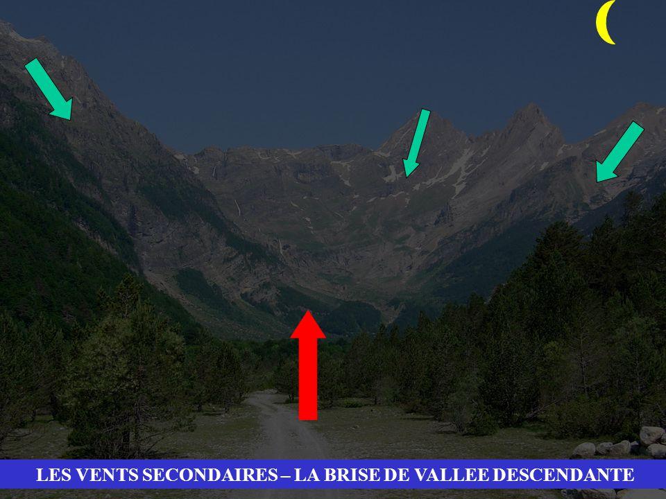 LES VENTS SECONDAIRES – LA BRISE DE VALLEE DESCENDANTE