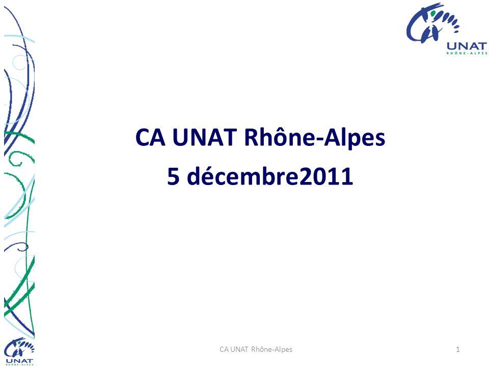 CA UNAT Rhône-Alpes 5 décembre2011 CA UNAT Rhône-Alpes1