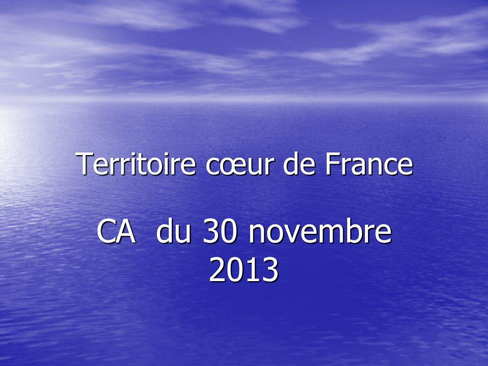 Territoire cœur de France CA du 30 novembre 2013