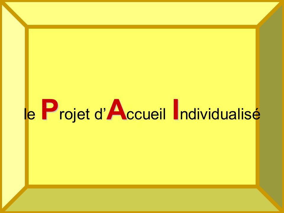 44 PAI le P rojet d A ccueil I ndividualisé