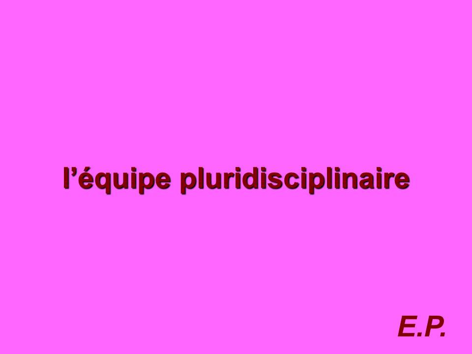 76 léquipe pluridisciplinaire E.P.