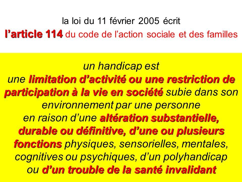 82 limitation dactivité ou une restriction de participation à la vie en société altération substantielle, durable ou définitive, dune ou plusieurs fon