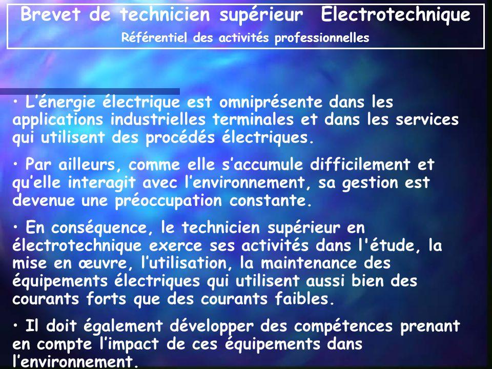 Lénergie électrique est omniprésente dans les applications industrielles terminales et dans les services qui utilisent des procédés électriques. Par a