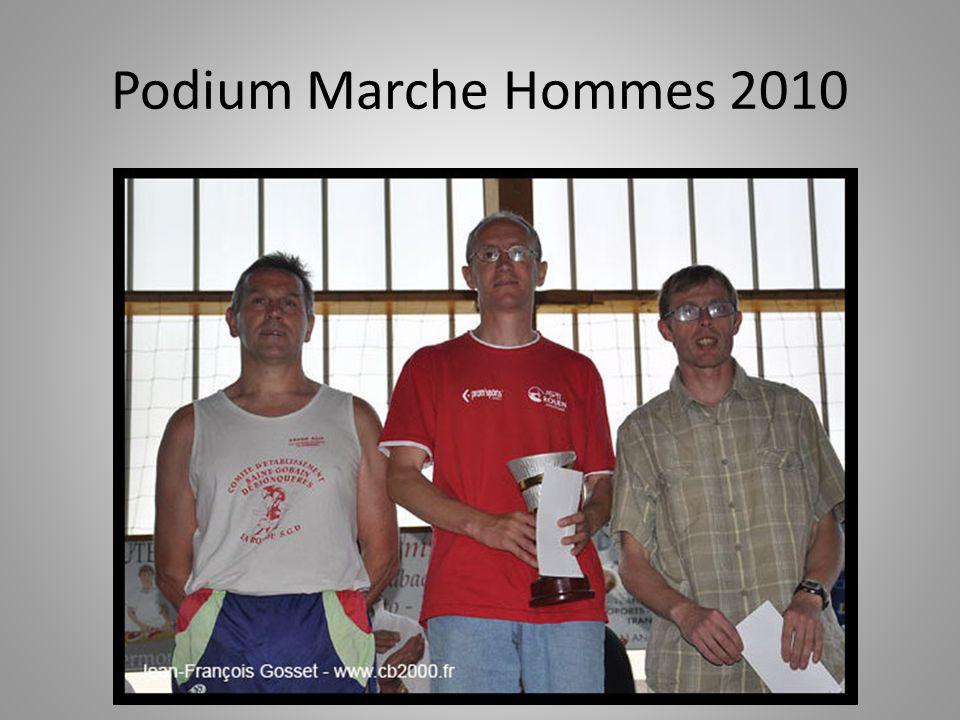 Podium Marche Hommes 2010