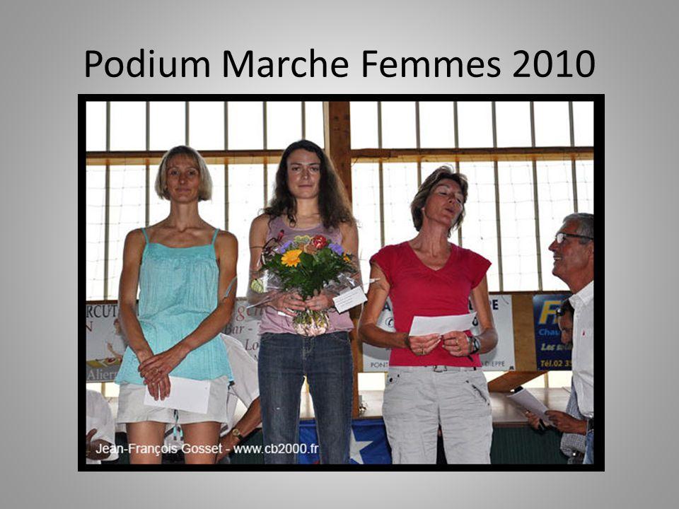 Podium Marche Femmes 2010