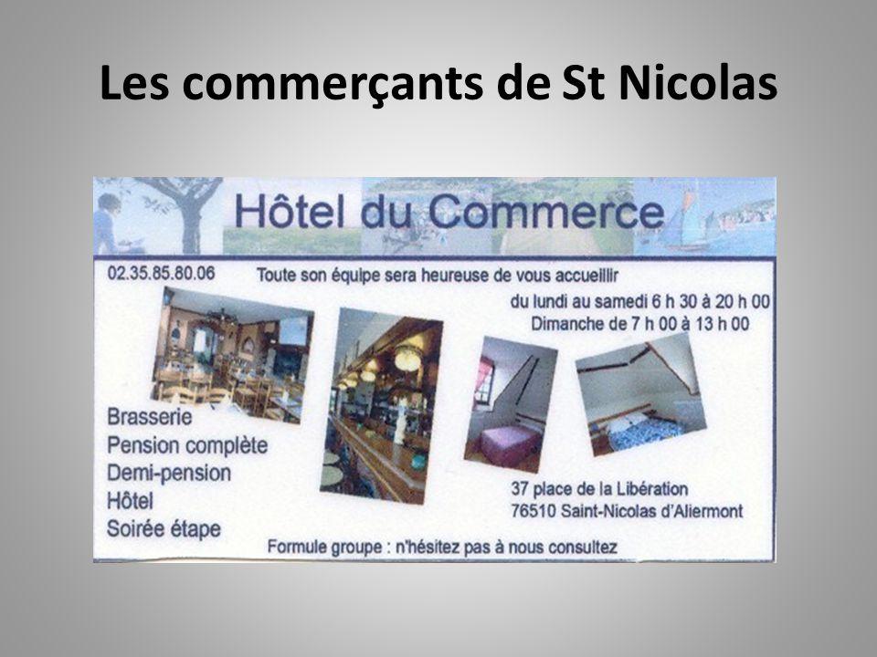 Les commerçants de St Nicolas