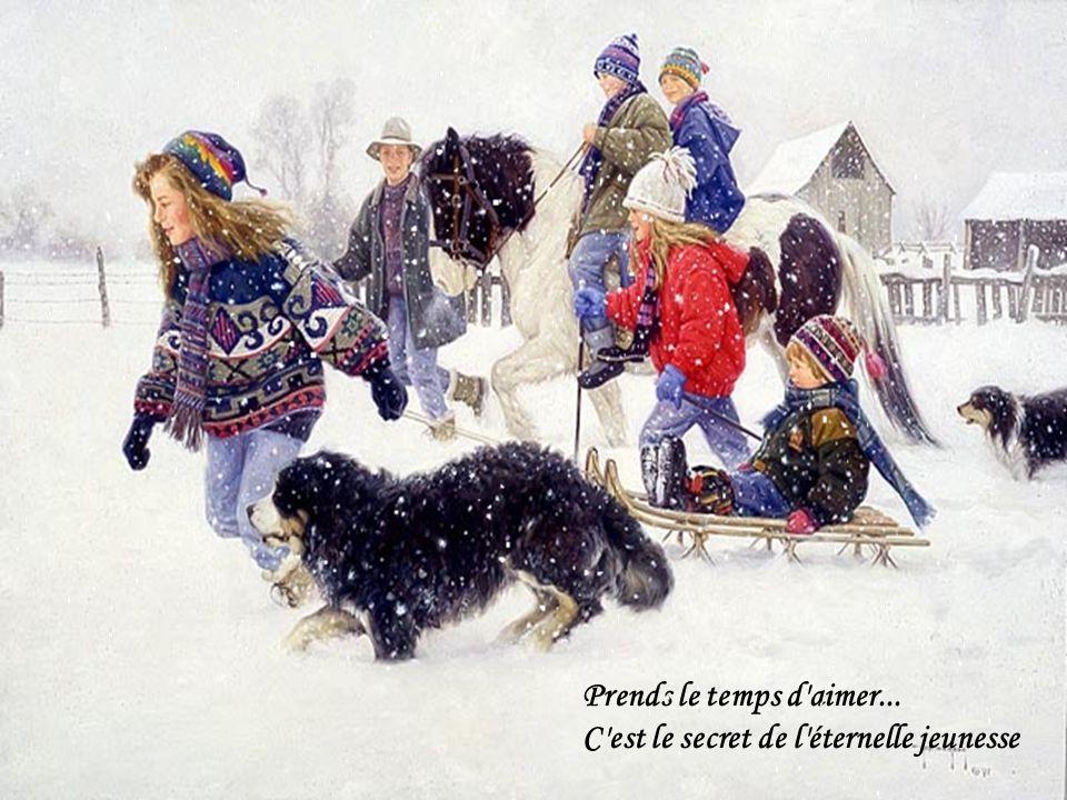 J'ai vécu un jour des merveilles Vous et moi souvenez-vous-en Nos hivers dautrefois !!!