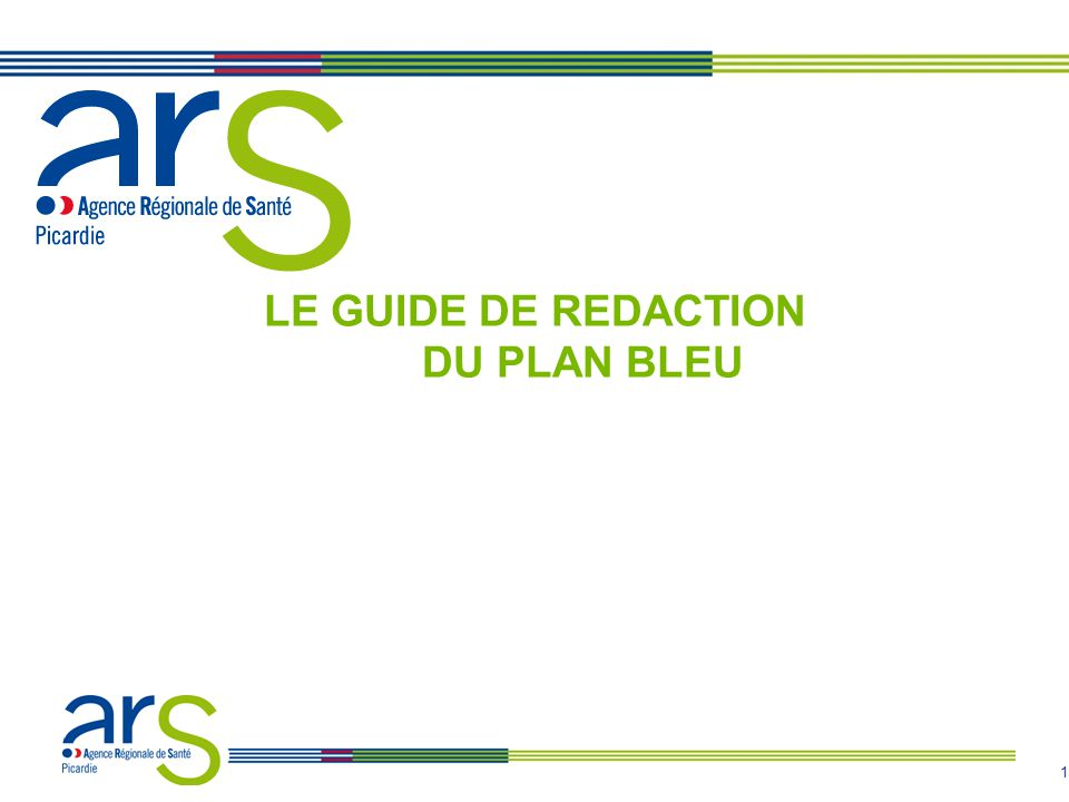 1 LE GUIDE DE REDACTION DU PLAN BLEU