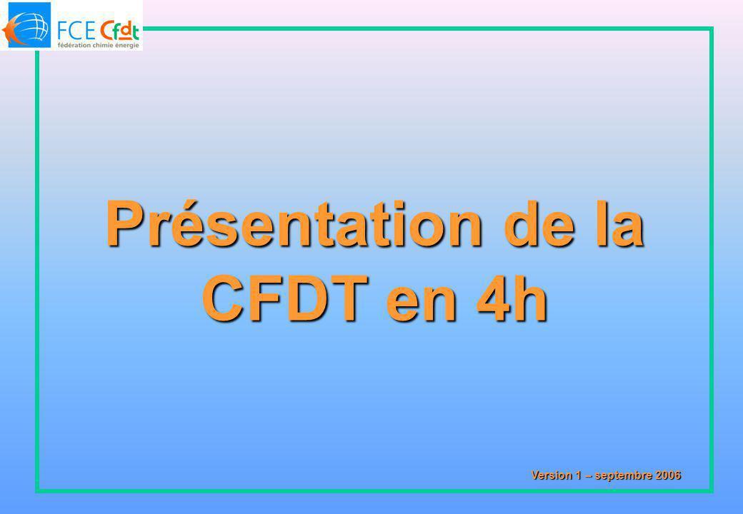 Présentation de la CFDT en 4h Version 1 – septembre 2006