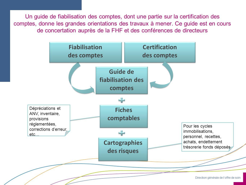 Direction générale de loffre de soin Un guide de fiabilisation des comptes, dont une partie sur la certification des comptes, donne les grandes orient