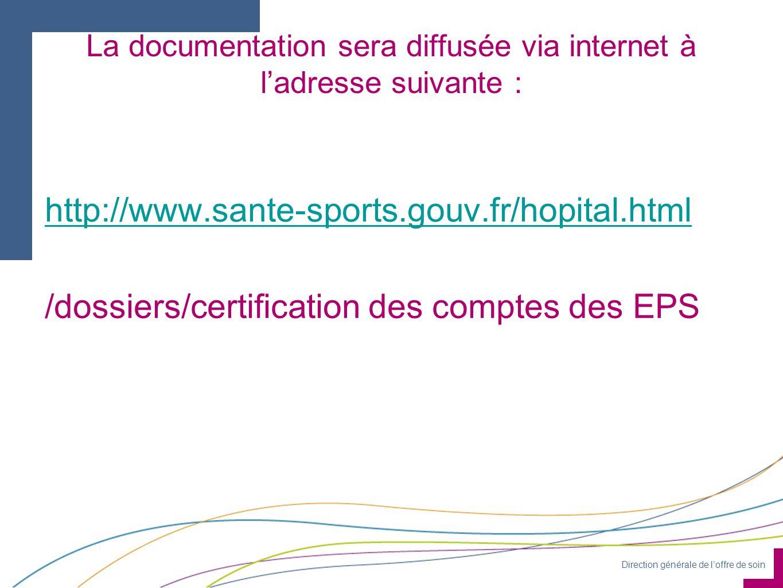 Direction générale de loffre de soin La documentation sera diffusée via internet à ladresse suivante : http://www.sante-sports.gouv.fr/hopital.html /d