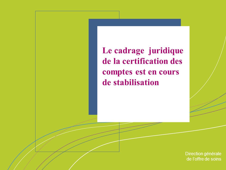 Direction générale de loffre de soin ORGANISATION & MISSIONS Direction générale de loffre de soins Le cadrage juridique de la certification des compte