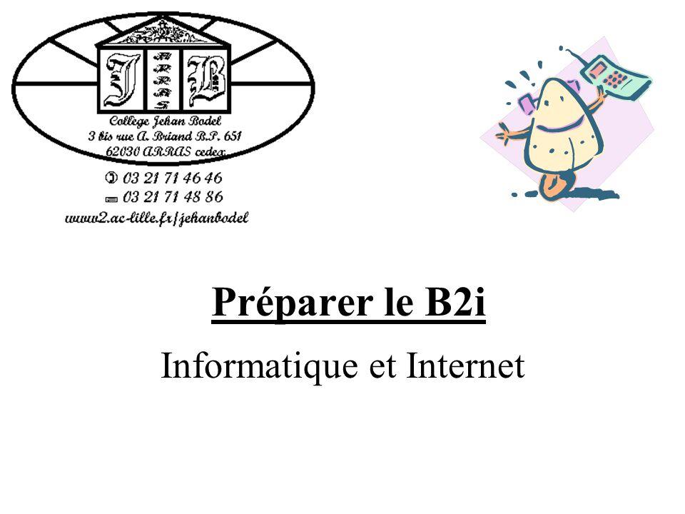 Préparer le B2i Informatique et Internet