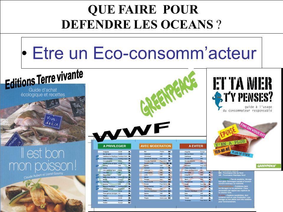 QUE FAIRE POUR DEFENDRE LES OCEANS Etre un Eco-consommacteur