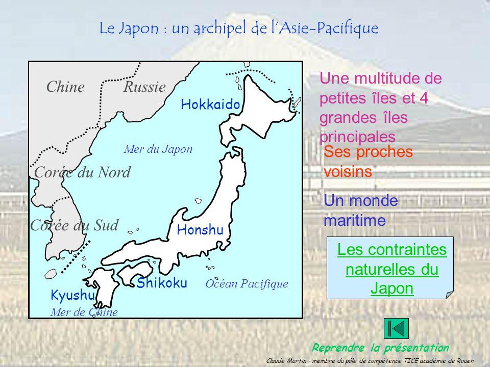 Le Japon : un archipel de lAsie-Pacifique Une multitude de petites îles et 4 grandes îles principales Hokkaido Honshu Kyushu Shikoku Ses proches voisi