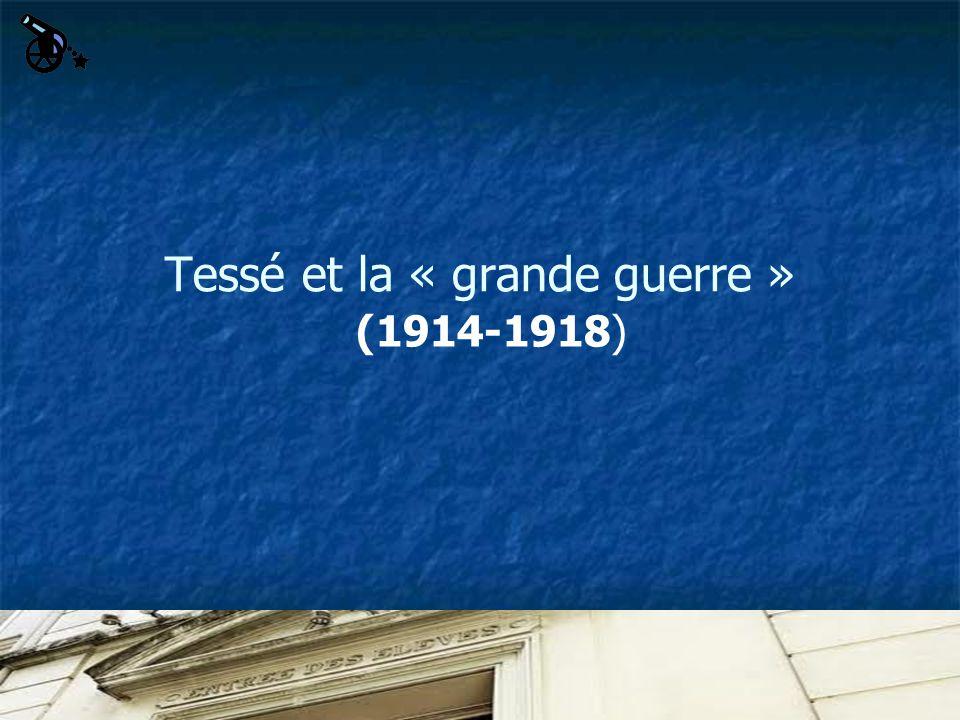 Tessé et la « grande guerre » (1914-1918)