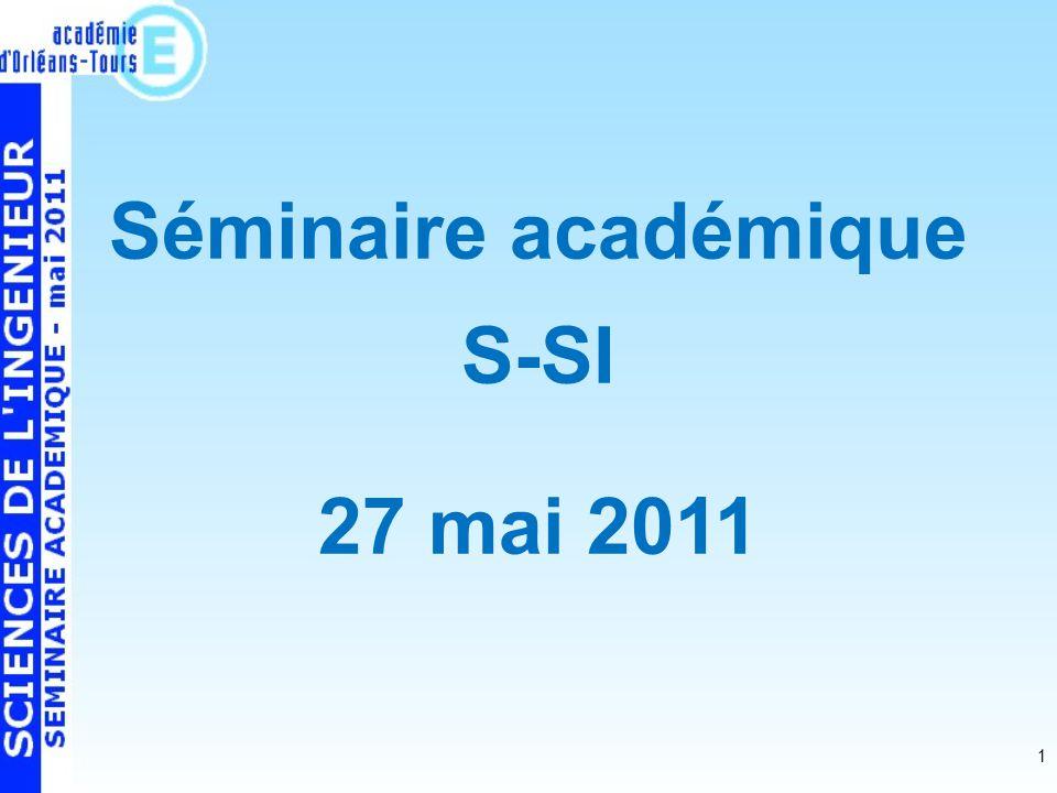 1 Séminaire académique S-SI 27 mai 2011