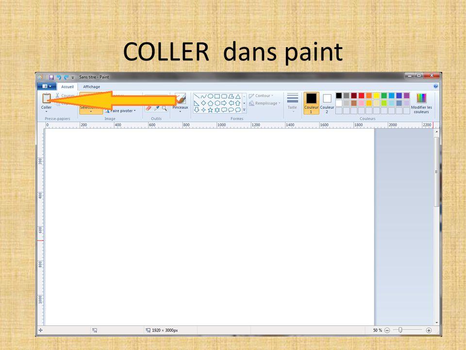 COLLER dans paint