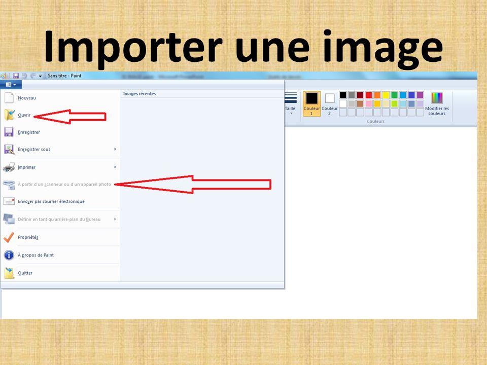 Importer une image