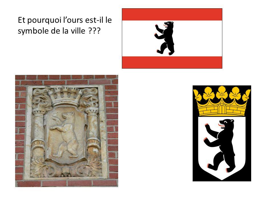 Et pourquoi lours est-il le symbole de la ville ???