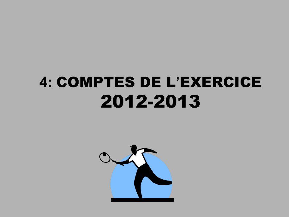 4: COMPTES DE L EXERCICE 2012-2013
