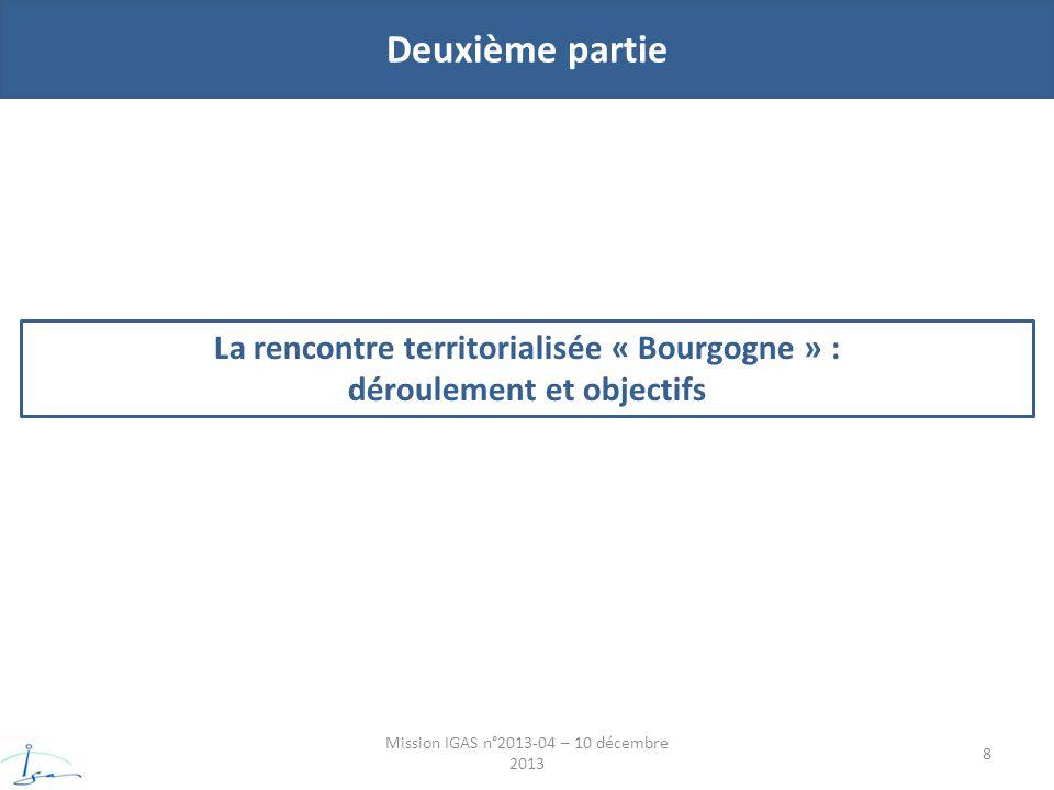 Deuxième partie Mission IGAS n°2013-04 – 10 décembre 2013 8 La rencontre territorialisée « Bourgogne » : déroulement et objectifs