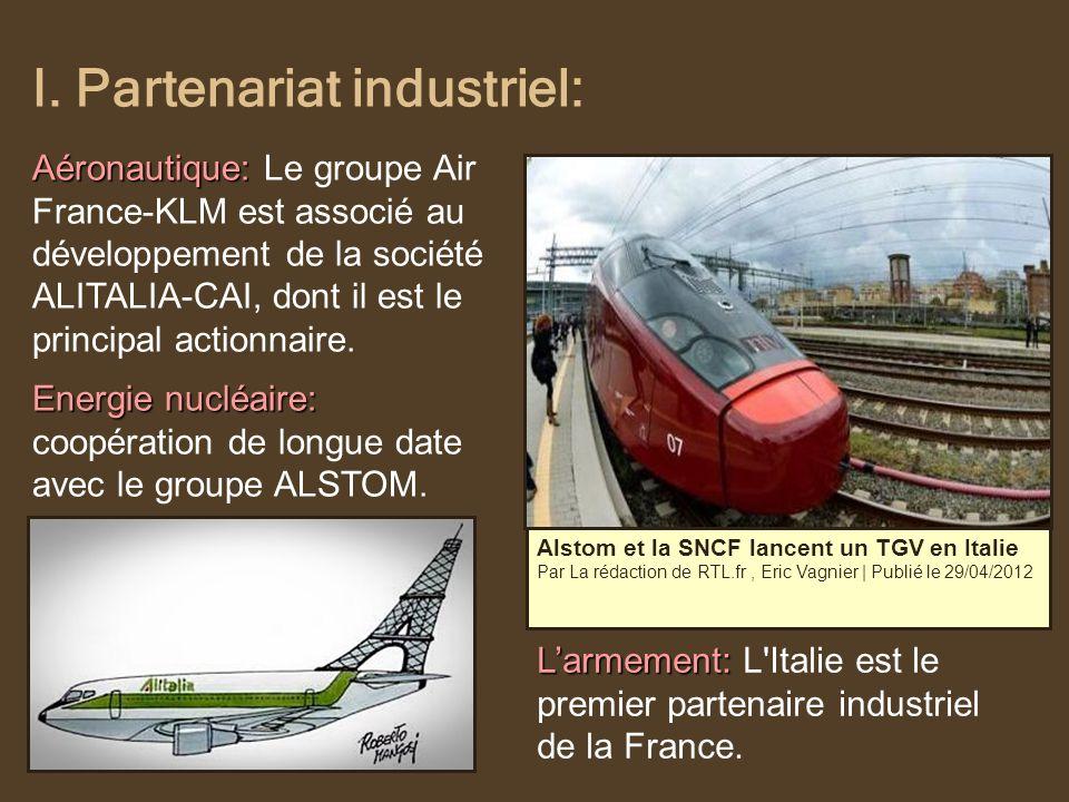 I. Partenariat industriel: Alstom et la SNCF lancent un TGV en Italie Par La rédaction de RTL.fr, Eric Vagnier   Publié le 29/04/2012 Larmement: Larme