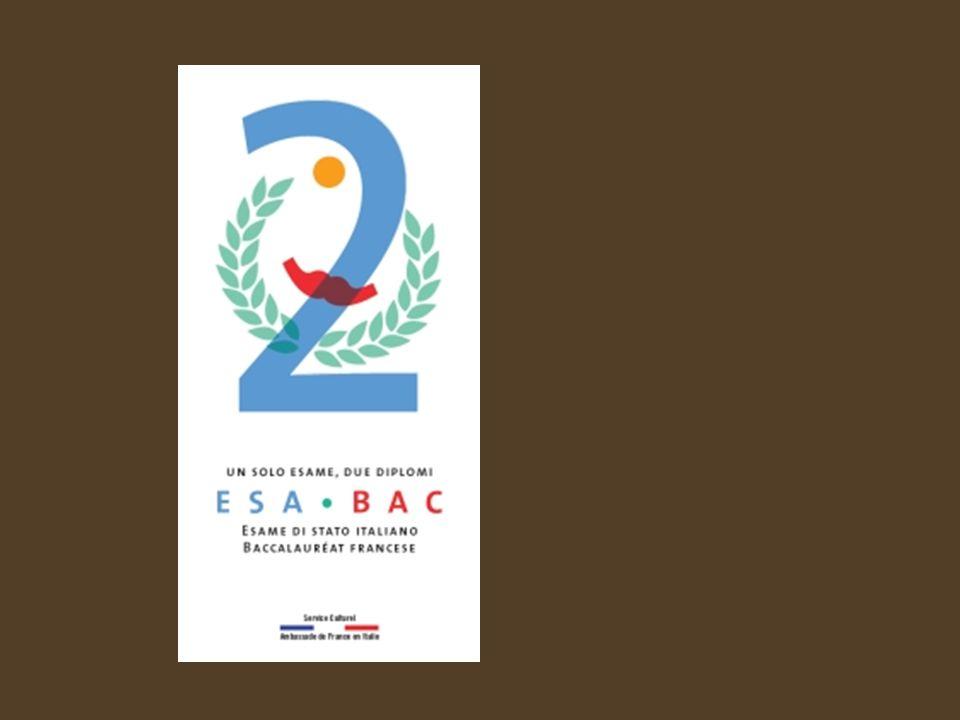 a) La coopération éducative : le succès de lEsaBac Au lycée, une certification à double délivrance permet aux élèves italiens et français dobtenir à partir dun seul examen deux diplômes : lEsame di Stato italien et le Baccalauréat français, ou ESABAC .