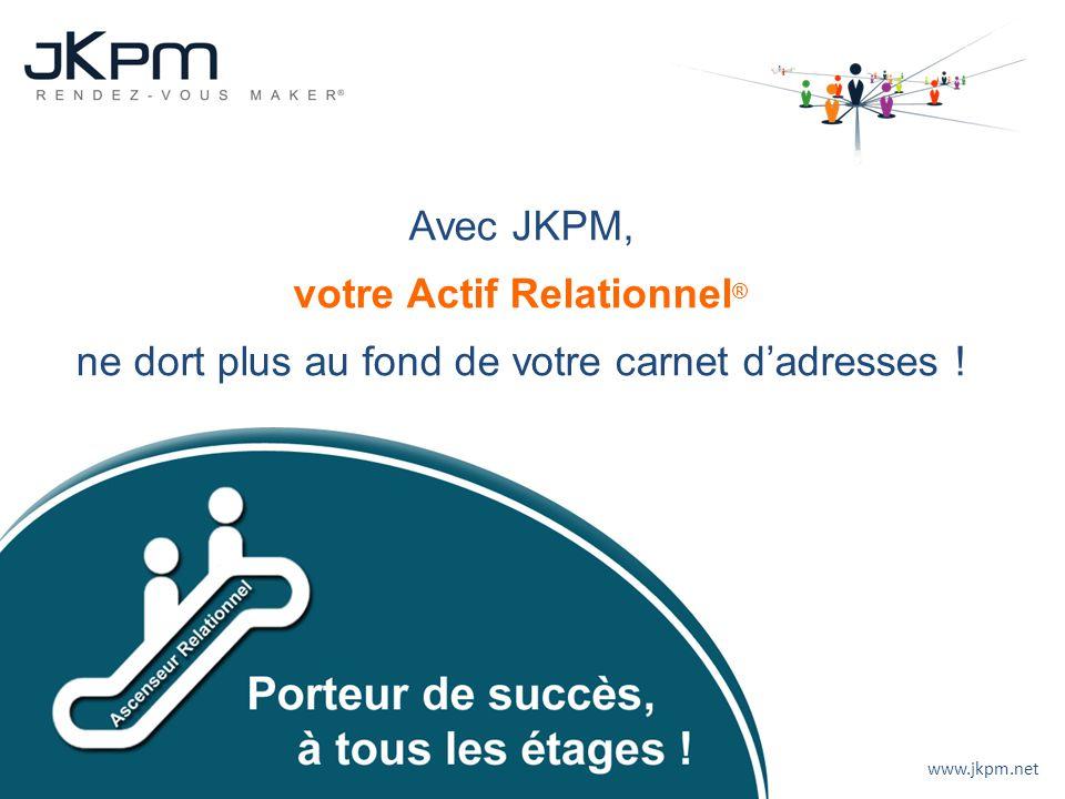 www.jkpm.net Mise à disposition dun véritable Ascenseur Relationnel avec toutes leurs relations. Avec JKPM, votre Actif Relationnel ® ne dort plus au