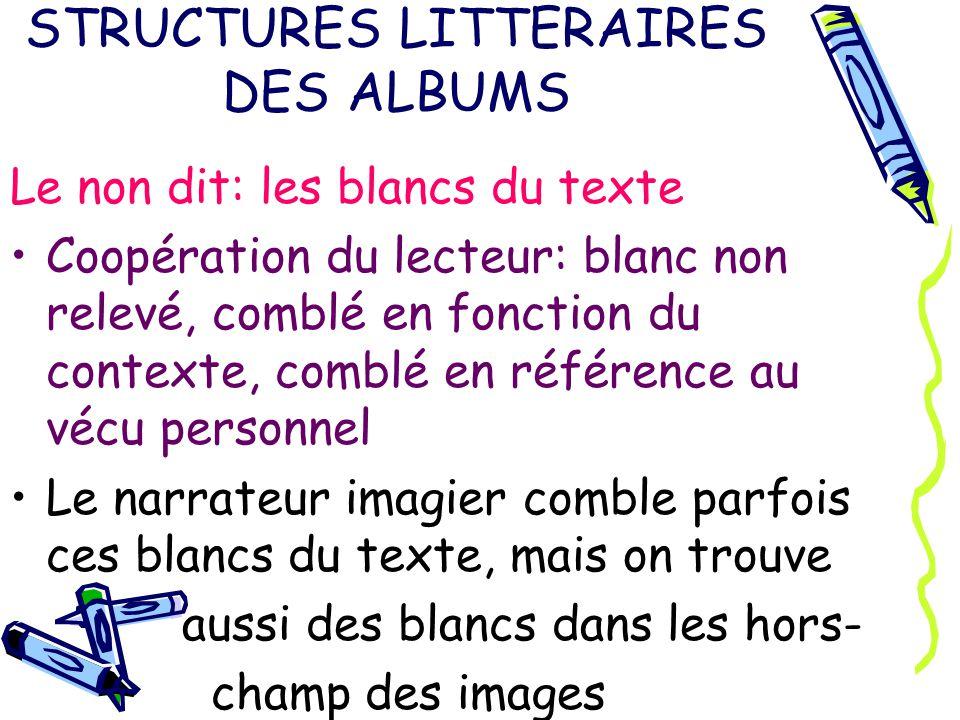 STRUCTURES LITTERAIRES DES ALBUMS Implicite du texte Implicite des images Coopération du lecteur: interprétation (Papa.