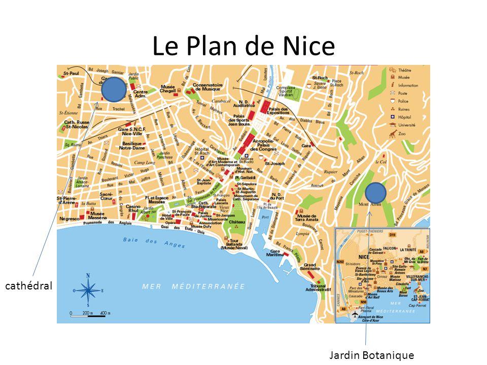 Le Plan de Nice cathédral Jardin Botanique