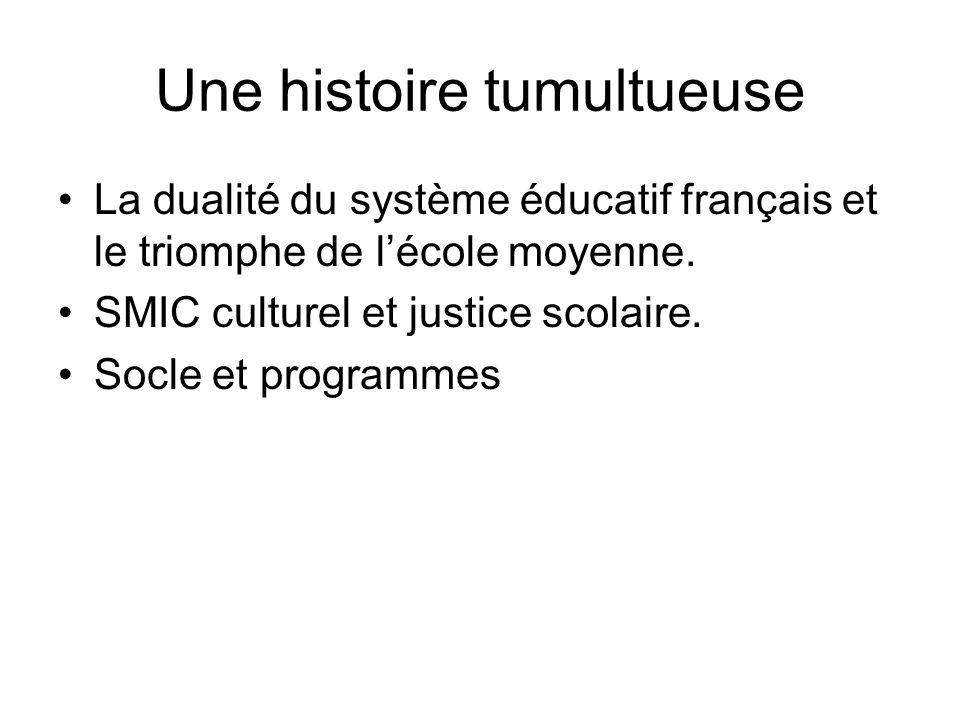 Une histoire tumultueuse La dualité du système éducatif français et le triomphe de lécole moyenne.