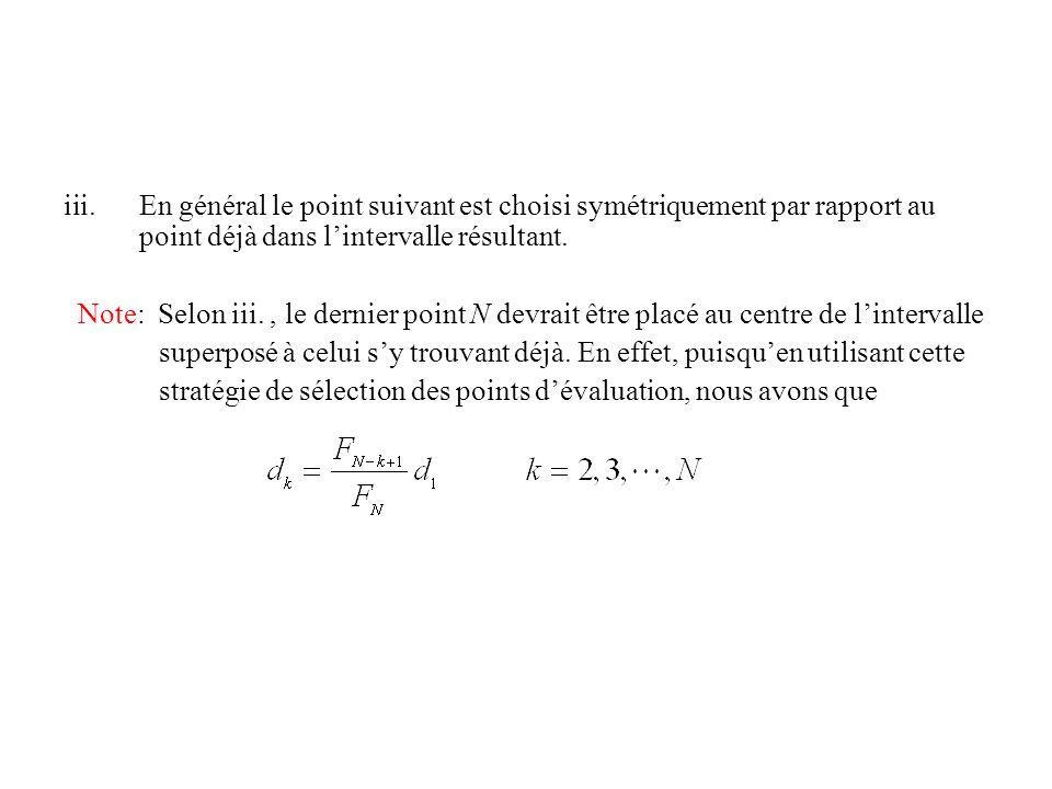 Note: Selon iii., le dernier point N devrait être placé au centre de lintervalle superposé à celui sy trouvant déjà.