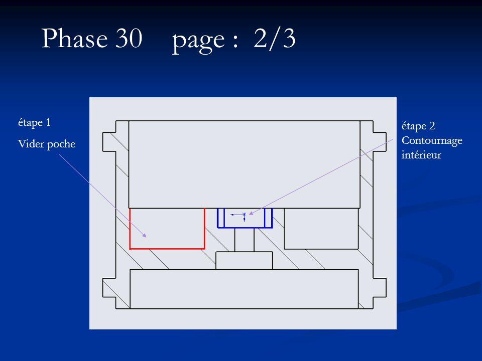 étape 1 Vider poche étape 2 Contournage intérieur Phase 30 page : 2/3